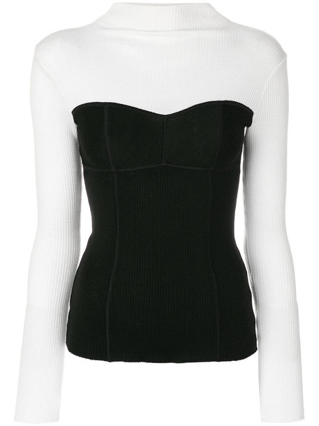 top corset top women black wool