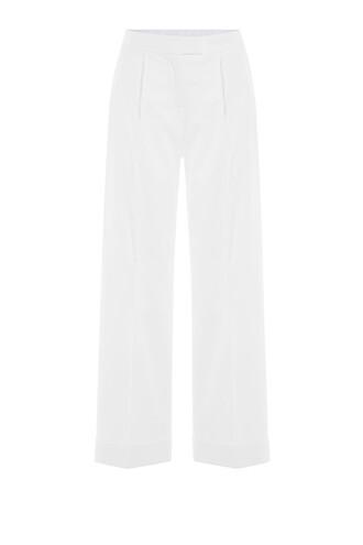 pants cropped white
