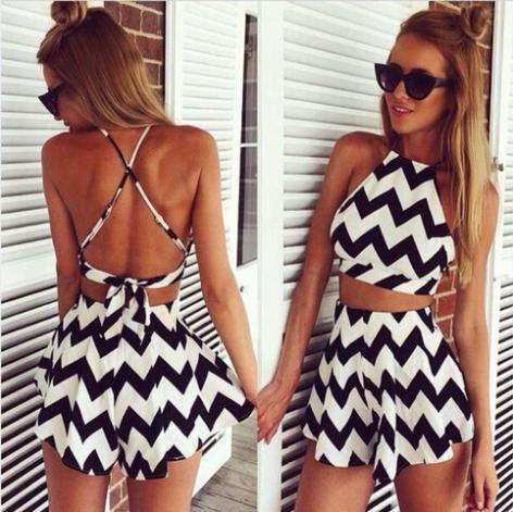 Aliexpress.com : buy summer beach striped jumpsuits shorts backless sexy jumpsuit crop top macacao vestido romper bodysuit femininas j2401 from reliable jumpsuits & rompers suppliers on ifashion (hong kong) limited