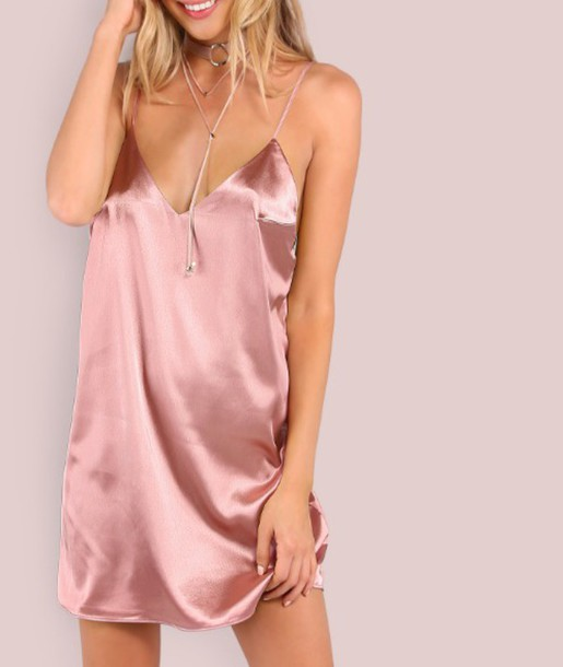 808ee74d7 dress girl girly girly wishlist pink pink dress silk silk dress satin satin  dress slip dress