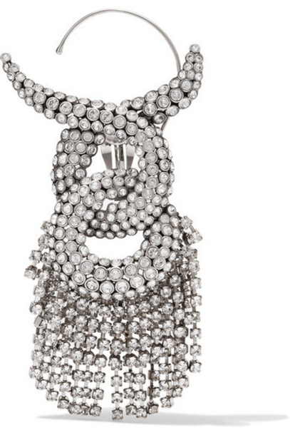 Balenciaga - Silver-plated Crystal Earring