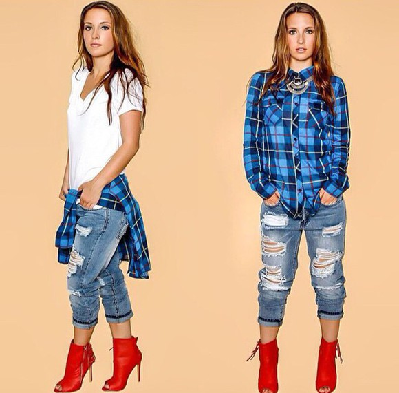 flannel fall outfits