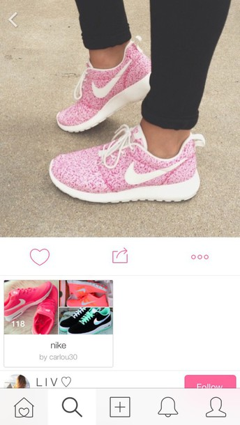 shoes nike pink white