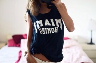 tank top miami miami tank top muscel shirt shirt