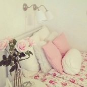 home accessory,floral,pink,flowers,bedroom,cute,bedding,tumblr bedroom
