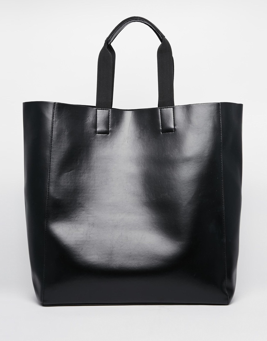 variety of designs and colors pre order huge discount River Island Faux Leather Tote Bag at asos.com