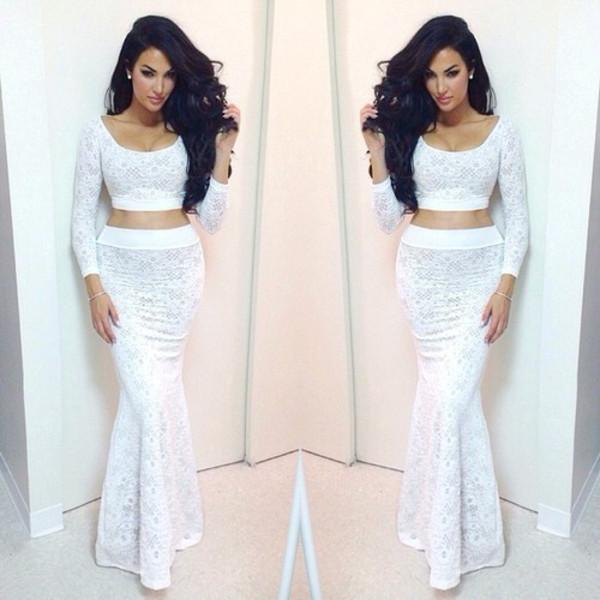dress white lace lace dress white dress white lace dress dress. two piece dress set