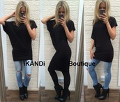 top,ikandi boutique,dress,oversized top,oversized,oversized t-shirt,blouse,batwing blouse,batwing sleeve,black,black dress,ripped jeans,ankle boots,casual,casual dress,casual top,t-shirt,loose,cute,fashion,trendy