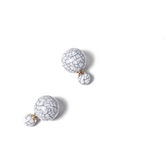 jewels jewelry earrings marble