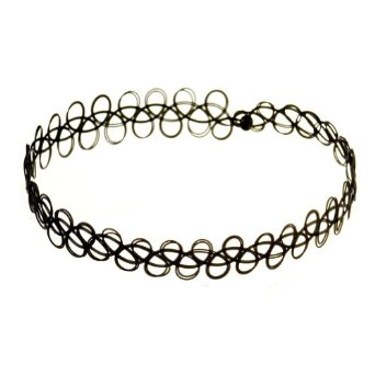 Amazon.com: Tattoo Stretch Choker Necklace (Black): Clothing