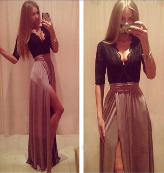 pink dress prom dress