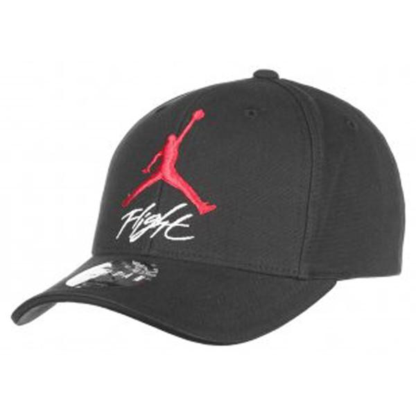 jordan - JUMPMAN FLIGHT STRETCH FIT CAP - Flexfit caps - black red 1b19d213824