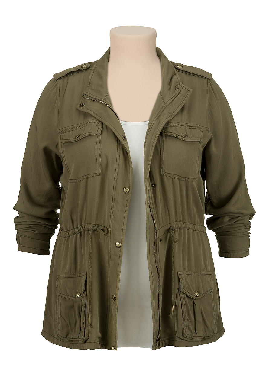Lightweight Military plus size Anorak Jacket