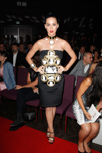 dress katy perry strapless gown sandals