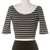 Brandi Striped Crop Top in Trendy Black & White | HC Fashion