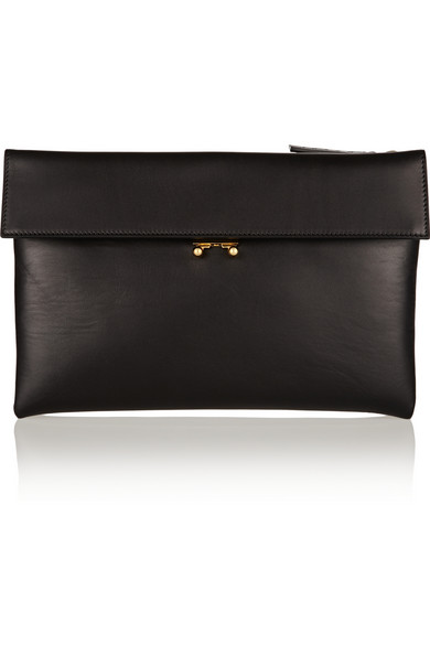 Marni | Leather clutch | NET-A-PORTER.COM