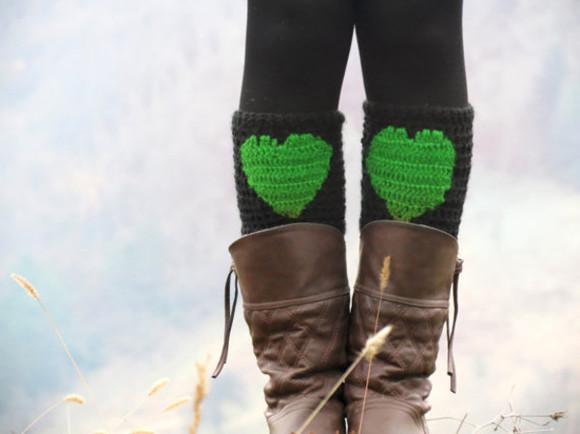 women winter outfits heart winter boot cuffs knit boot cuffs socks women fashion green boot socks legwarmer legwear winter boots winter boot cuffs knit