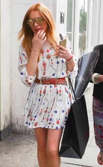 dress lindsay lohan summer dress belt