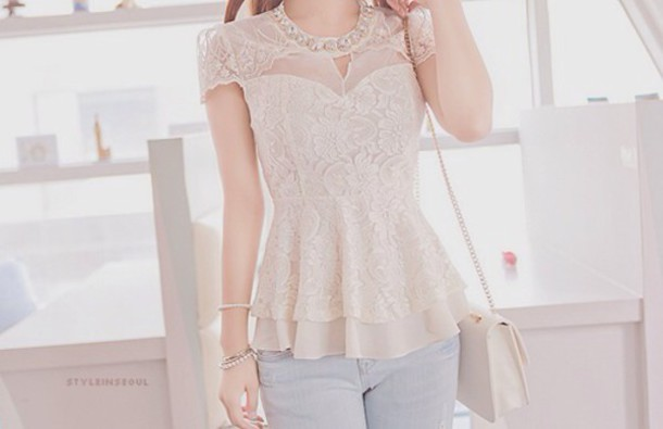 top lace pretty tumblr indie hipster shirt