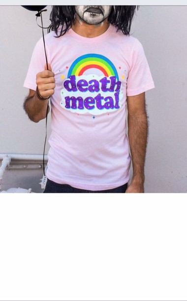 2cc60c17 shirt pink music death meta grunge black funny rainbow unicorn ironic mens t -shirt