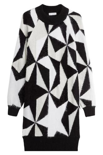 dress sweater dress mohair multicolor