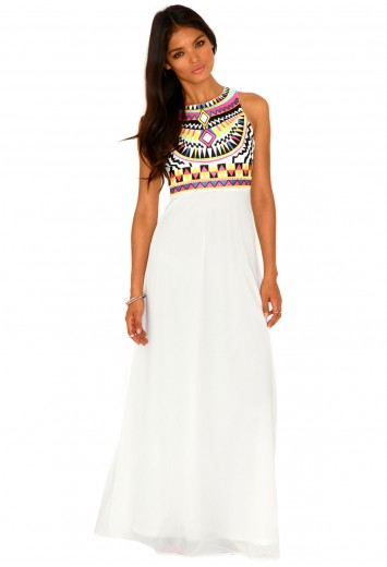 Malvina Aztec Maxi Dress - Dresses - Missguided