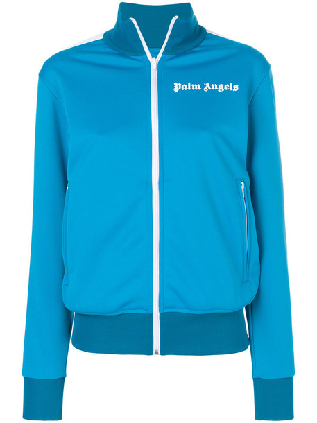 Palm Angels sweatshirt women classic blue sweater