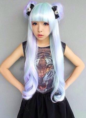 hair accessory wig mint