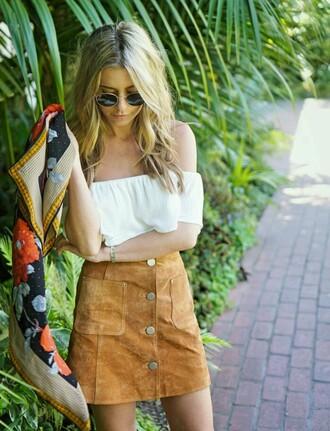 skirt high waisted pockets buttons orange skirt