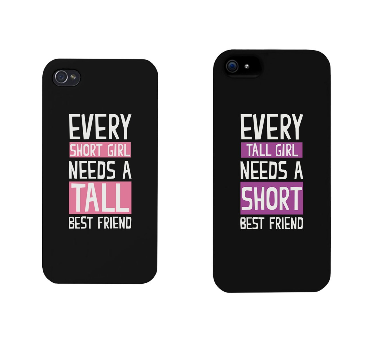 Amazon Com Bff Phone Cases Tall And Short Best Friend