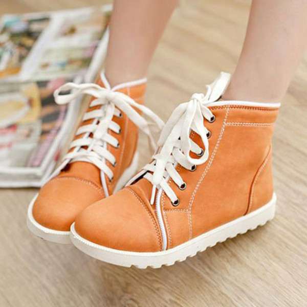shoes roman leisure lace up candy color