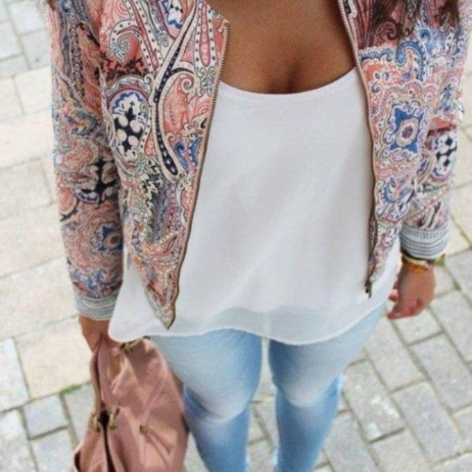 jacket jeans shoes sweater bag jewels blazer girl colorful woman print oriental print aztec floral print jacket printed jacket light pink beige t-shirt floral pink purple necklace pattern outfits summer outfits purse colorful blouse white blouse paisley aztec pink pattern flowers spring withe oversized rosa multicolor jacket bershka white summer top coat veste lapel blazer for women assorted colors floral jacket red bandeau blue yellow short summer summer outfits spring pink summer patterned sweater patterned jacket pink summer dress fashion scarf print pink high heels classy printed jacket seen in the picture white top pink jacket fancy scarf red