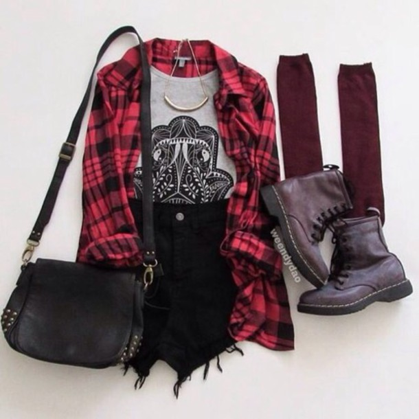 tank top hipster cardigan shorts bag denim black grunge