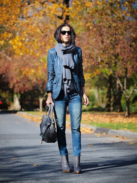 bittersweet colours scarf jacket jeans shoes bag sunglasses