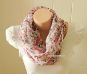 scarf,accessories,women,floral scarf,floral cowl scarf,soft chiffon scarf,scarve scarf,gift ideas,best selling item,long cowl scarf,mothers day gifts,fashion accessory,women scarves,shawl