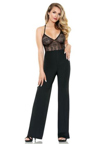 jumpsuit fantasy lingerie black lace lingerie bikiniluxe