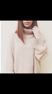 sweater,turtleneck,jumper,roll neck jumper,roll neck sweater,turtle neck sweater,off-white,cream,grey