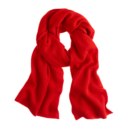 Collection cashmere ribbed scarf
