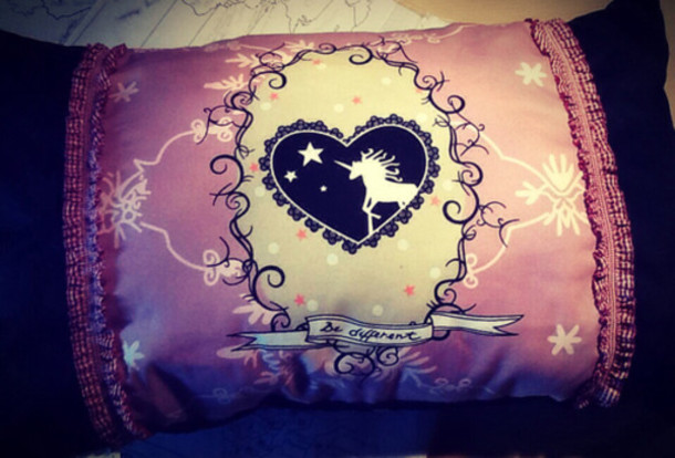 home accessory pillow unicorn pastel pink kawaii cute stars magic love lovely musthave purple kawaii grunge kawaii dark pastel goth unicorn pillow