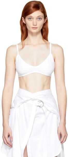 Helmut Lang bra triangle white underwear