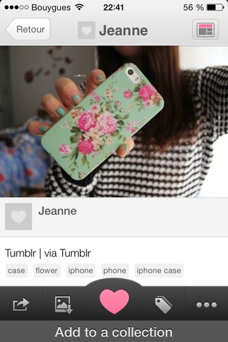 jewels iphone case iphone 4 case liberty flowers green pink