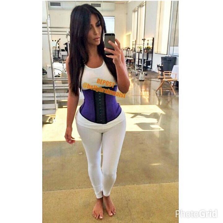 Belly brain waist kim kardashian waist training