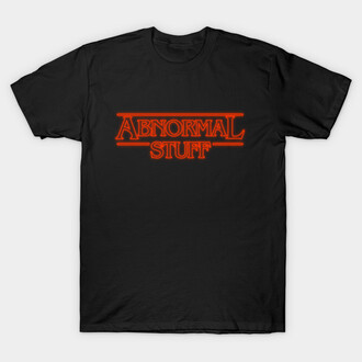 t-shirt abnormal stuff stangerthings stranger things parody parody
