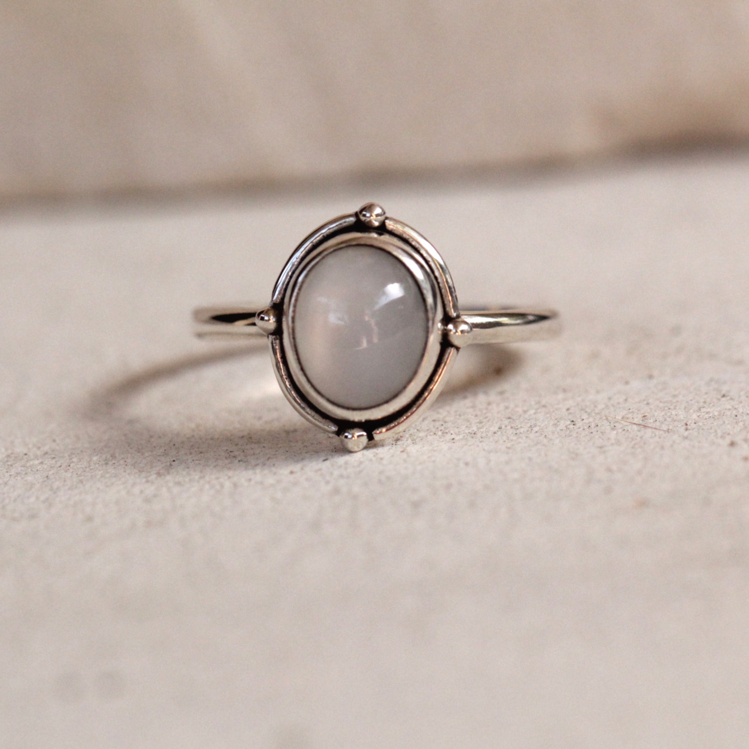simple moonstone ring sterling silver rings jewelry