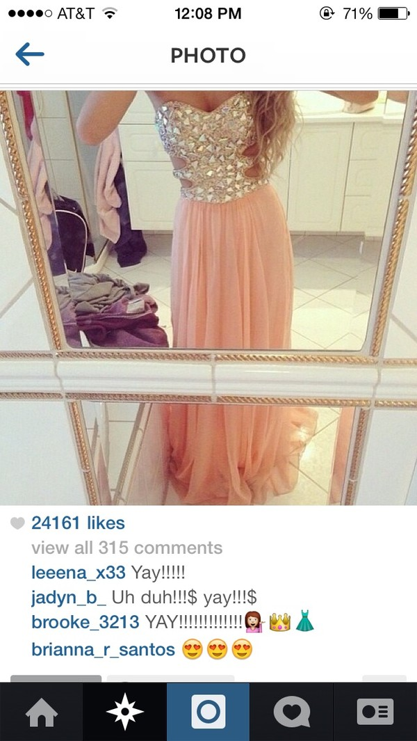 dress long prom dress coral