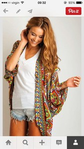 aztec print jacket aztec cardigan kimono colorful, cardigan, rainbow