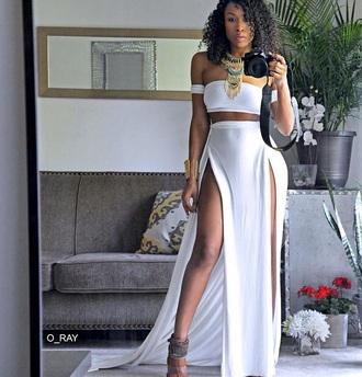 dress burgundy slit dress