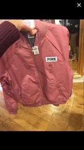 coat,vspink,pink jacket,bomber jacket,victoria's secret