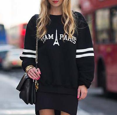 Team paris black jumper · fashion struck · online store powered by storenvy