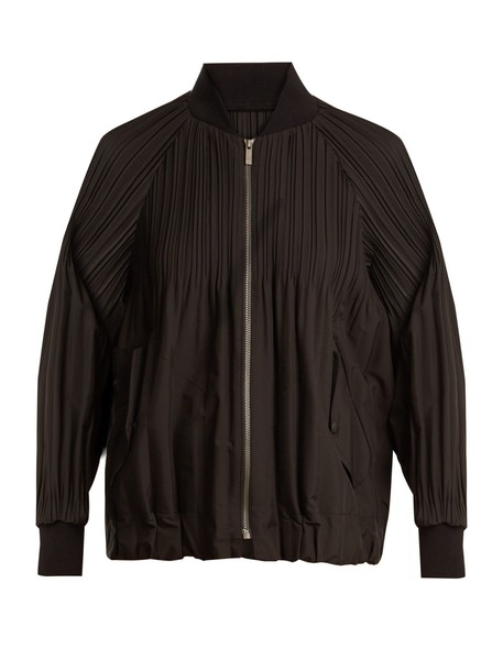 PLEATS PLEASE ISSEY MIYAKE jacket bomber jacket pleated black